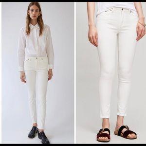 Acne Studios Bla Konst White Skinny Jeans 24 NEW